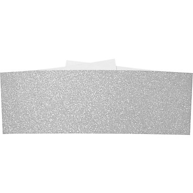 LUX A7 Belly Bands 50/Box, Silver Sparkle (A7BB-MS01-50)