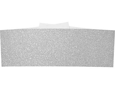 LUX A7 Belly Bands 500/Box, Silver Sparkle (A7BB-MS01-500)