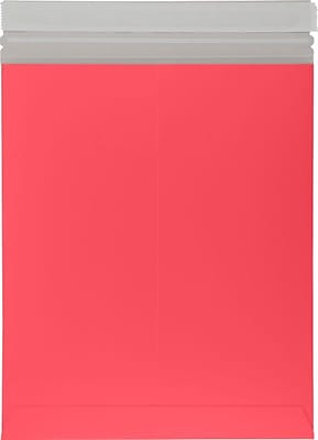 LUX 11 x 13 1/2 Colored Paperboard Mailers 50/Box, Holiday Red (1113PBM-HR-50)