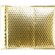 LUX Glamour Bubble Mailers - 8 1/2 x 11 1/4  50/Box, Gold Glamour Bubble (SBM851125-50)