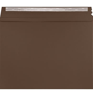 LUX Mailers (9 1/2 x 12 1/2) 250/Box, Chocolate (LUXMLR-17-250)