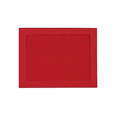 LUX 10 x 13 Full Face Window Envelopes 50/Box, Ruby Red (FFW-1013-18-50)
