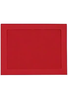 LUX 10 x 13 Full Face Window Envelopes (10 x 13) - Ruby Red - Pack of 50 (2444803)