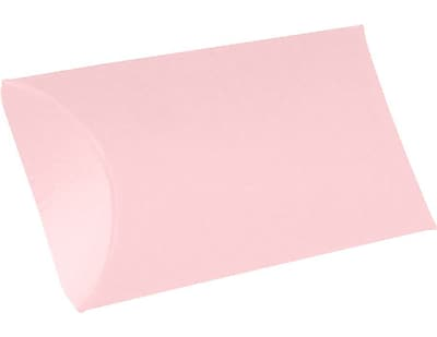 LUX Medium Pillow Boxes (2 1/2 x 7/8 x 4) 50/Box, Candy Pink (LUX-MPB-14-50)