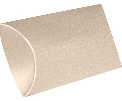 LUX Medium Pillow Boxes (2 1/2 x 7/8 x 4) 500/Box, Taupe Metallic (MPB-M09-500)