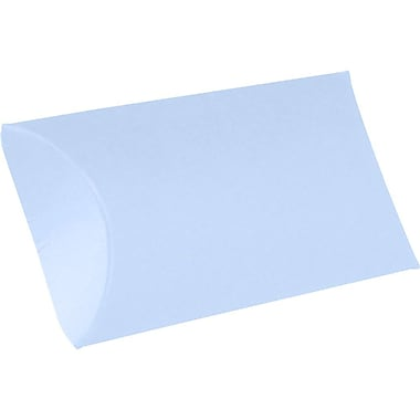 LUX Medium Pillow Boxes (2 1/2 x 7/8 x 4) 1000/Box, Baby Blue (LUX-MPB-13-1000)
