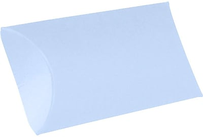 LUX Small Pillow Boxes (2 x 3/4 x 3) 500/Box, Baby Blue (LUX-SPB-13-500)