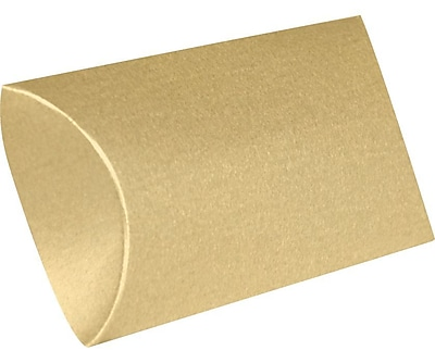 LUX Medium Pillow Boxes (2 1/2 x 7/8 x 4) 1000/Box, Blonde Metallic (MPB-M07-1000)