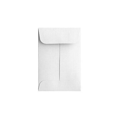 LUX #1 Coin Envelopes (2 1/4 x 3 1/2) 500/Box, White Linen (1CO-WLI-500)