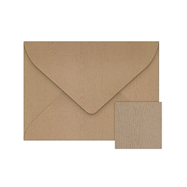 LUX #17 Mini Envelopes (2 11/16 x 3 11/16) 1000/Box, Oak Woodgrain (LEVC-S01-1000)