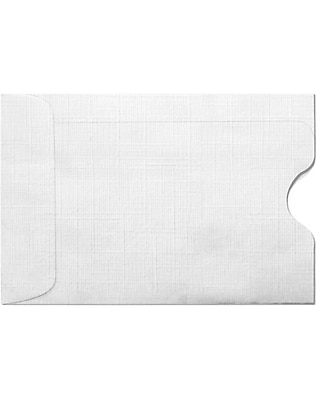 LUX Credit Card Sleeves (2 3/8 x 3 1/2) 500/Box, White Linen (1801-WLI-500)