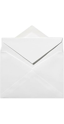 LUX Royal Inner Envelopes (No Glue) 50/Box, Brilliant White - 100% Cotton (ROYINNER-SBW-50)