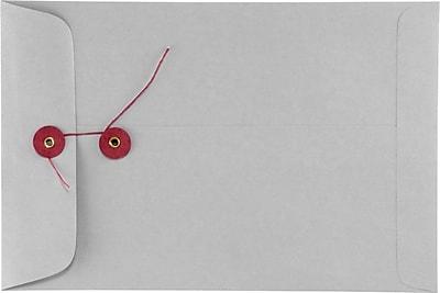 LUX 6 x 9 Button & String Envelopes 250/Box) 250/Box, 28lb. Gray Kraft (69BS-28GK-250)