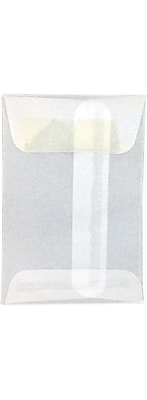 LUX #1 Coin Envelopes (2 1/4 x 3 1/2) 50/Box, 24lb. Clear Translucent (1CO-CT-50)