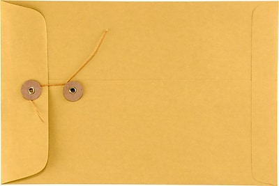 LUX 6 x 9 Button & String Envelopes 500/Box) 500/Box, 28lb. Brown Kraft (69BS-28BK-500)