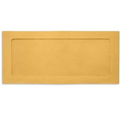 LUX #10 Full Face Window Envelopes 1000/box, 28lb. Brown Kraft (FFW-10-BK-1000)