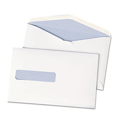 LUX 6 x 9 1/2 Postage Saver Window Envelopes 500/box, 28lb. White (QUA90063-500)