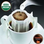 FUERTE®, Pronto®, Caramoso™, Coffee Drip Bag, Organic Arabica Coffee, Natural Caramel Flavor, 18/Pack, (PCC-01)