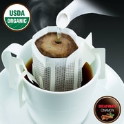 FUERTE®, Pronto®, Decaffeinati™, Coffee Drip Bag, Organic Arabica Coffee, Natural Cinnamon Flavor, Decaf, 18/Pack, (PDC-11)