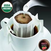 FUERTE®, Pronto®, Fruitti™, Coffee Drip Bag, Organic Arabica Coffee, Natural Chocolate Berries, 18/Pack, (PFB-96)