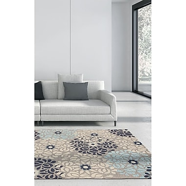 Ecarpetgallery – Tapis Portico FKI1 4 x 6 pi, gris/bleu pâle