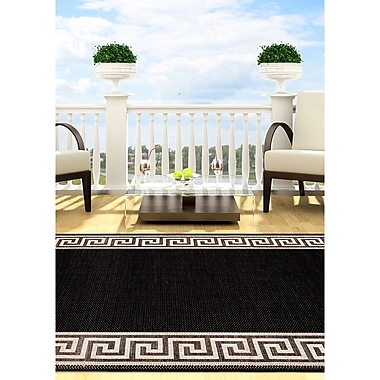 Ecarpetgallery – Tapis Knossos de 5 pi 3 po x 7 pi 7 po, noir/gris pâle