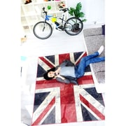 "ecarpetgallery 4'4"" x 6'6"" Union Jack Rug, Navy Blue/Red"
