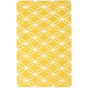 "ecarpetgallery 5'0"" x 8'0"" Baroque Rug, Dark Yellow"
