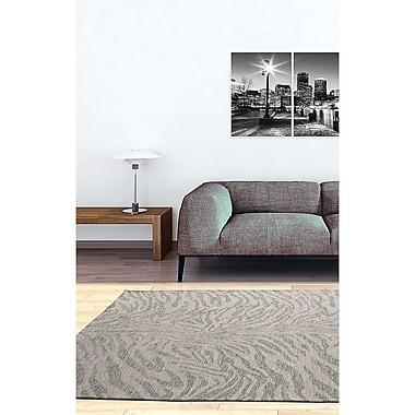 Ecarpetgallery – Tapis Portico GBG1 5 x 8 pi, gris/ivoire