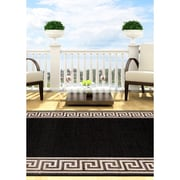 "ECARPETGALLERY 3'11"" x 5'7"" Knossos Rug, Black, Light Grey"