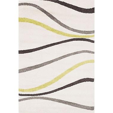 Ecarpetgallery – Tapis à poil long Frieze Plush 5 pi 2 po x 7 pi 5 po, ivoire (201849)