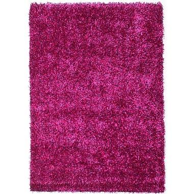Ecarpetgallery – Tapis à poils longs Neon 4 pi 6 po x 6 pi 6 po, rose/violet