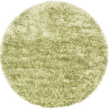 Ecarpetgallery – Tapis à poil long Neon 6 pi 6 po x 6 pi 6 po, vert