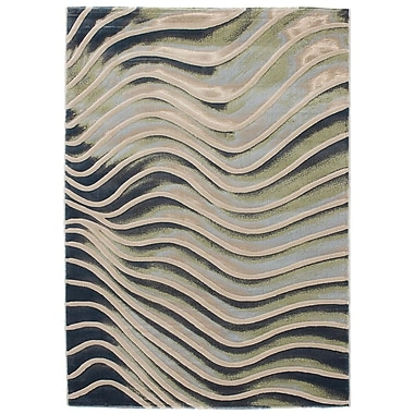 Ecarpetgallery – Tapis Abstract, 5 pi 3 po x 7 pi 7 po, gris pâle
