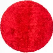 "ecarpetgallery 6'6"" x 6'6"" Neon Shag, Red"