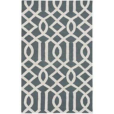 Ecarpetgallery – Tapis Kasbah 5 x 8 pi, vert foncé/gris pâle