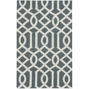 "ecarpetgallery 5'0"" x 8'0"" Kasbah Rug, Dark Green/Light Grey"