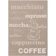 "ecarpetgallery 5'3"" x 7'7"" Cafe Mocha Rug, Dark Khaki"