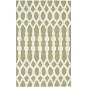 "ecarpetgallery 5'0"" x 8'0"" Kasbah Rug, Cream/Light Green"