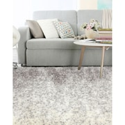 "ecarpetgallery 7'10"" x 10'2"" Arctic Plush Rug, Cream/Dark Grey"