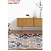 "ecarpetgallery 3'11"" x 5'7"" Abstract Rug, Cream/Grey"