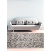 "ecarpetgallery 5'3"" x 7'3"" Rosalyn Rug, Light Grey"