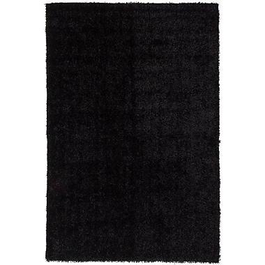 Ecarpetgallery – Tapis à poils longs Neon 6 pi 7 po x 9 pi 10 po, noir