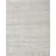 "ecarpetgallery 7'10"" x 9'10"" Linear Plush Rug, Dark Grey/Light Cream"