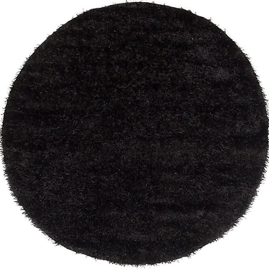 Ecarpetgallery – Tapis à poil long Neon 6 pi 5 po x 6 pi 5 po, noir