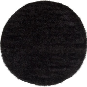 "ecarpetgallery 6'5"" x 6'5"" Neon Shag, Black"