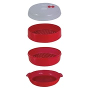 Handy Gourmet 2 Tier Microwave Steamer Red (JB6216)