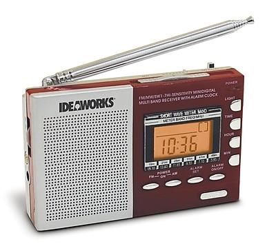 U.S. Patrol JB7360 Digital Worldwide Radio Red Digital 9 band