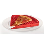 "Handy Gourmet Silicone 11.81""W x 10.25""D x 0.87""H Red Microwave Pizza Tray (RET7576)"