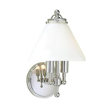 Norwell Lighting Lenon 2-Light Wall Sconce; Polished Nickel